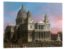 Acrylic print  St. Paul's Cathedral - Antonio Canaletto