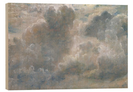 Wood print  Study of cumulus clouds - John Constable