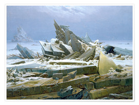 Premium poster  The Polar Sea - Caspar David Friedrich
