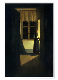 Premium poster The Woman with the Candlestick