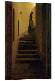 Foam board print  Caroline on the stairs - Caspar David Friedrich