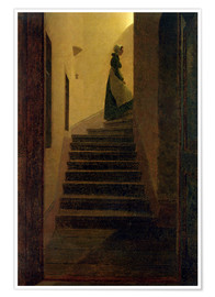 Premium poster  Caroline on the stairs - Caspar David Friedrich