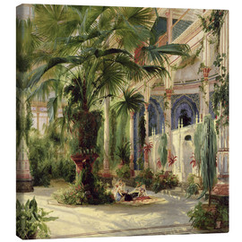 Canvas print  Interior of the Palm House, Potsdam - Carl Blechen