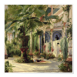 Premium poster  Interior of the Palm House, Potsdam - Carl Blechen