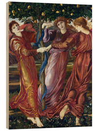 Wood print  Garden of the Hesperides - Edward Burne-Jones