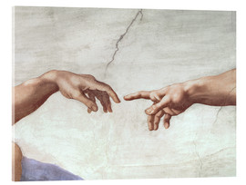 Acrylic print  The creation of Adam (detail) - Michelangelo