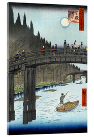 Acrylic print  Kyoto bridge by moonlight - Utagawa Hiroshige