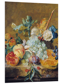Foam board print  Flowers and fruits - Jan van Huysum