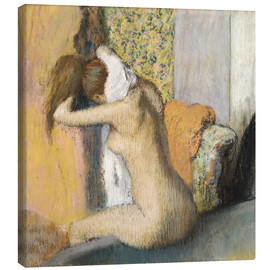 Canvas print  Woman after bath dries her neck - Edgar Degas