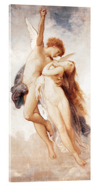 Acrylic print  Cupid and Psyche - William Adolphe Bouguereau