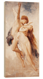 Wood print  Cupid and Psyche - William Adolphe Bouguereau