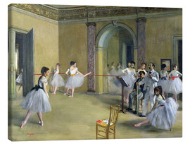 Canvas print  The Dance Foyer at the Opera on the rue Le Peletier - Edgar Degas