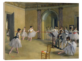 Wood print  The Dance Foyer at the Opera on the rue Le Peletier - Edgar Degas