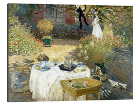 Aluminium print  The Luncheon: Monet's garden at Argenteuil - Claude Monet