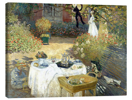 Canvas print  The Luncheon: Monet's garden at Argenteuil - Claude Monet