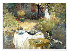 Premium poster  The Luncheon: Monet's garden at Argenteuil - Claude Monet