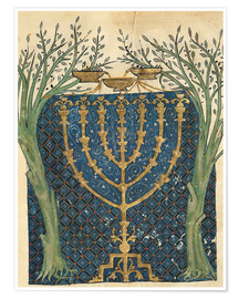 Premium poster  Illumination of a menorah - Joseph Asarfati