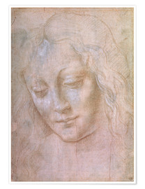 Premium poster Head of a woman
