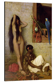 Aluminium print  The slave for sale - Jean Leon Gerome