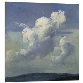 Foam board print  Cloud Study - Johan Christian Clausen Dahl