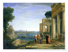 Premium poster Aeneas and Dido in Carthage