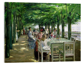 Acrylic print  The Terrace at Jacob's restaurant in Nienstedten-an-der-Elbe - Max Liebermann