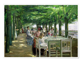 Premium poster  The Terrace at Jacob's restaurant in Nienstedten-an-der-Elbe - Max Liebermann