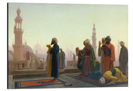 Aluminium print  The prayers - Jean Leon Gerome