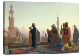 Canvas print  The prayers - Jean Leon Gerome