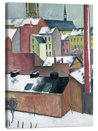 Canvas print  The Church of St Mary in Bonn in Snow - August Macke