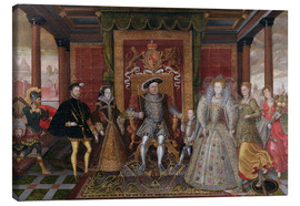 Lucas de Heere - An Allegory of the Tudor Succession: The Family of Henry VIII