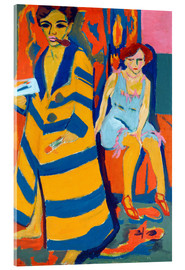 Acrylic print  Ernst Ludwig Kirchner with a Model - Ernst Ludwig Kirchner