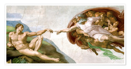 Premium poster The Creation of Adam