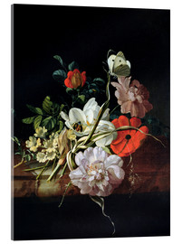 Acrylic print  Still Life with Flowers - Rachel Ruysch