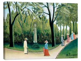 Canvas print  The Monument to Chopin in the Luxembourg Gardens - Henri Rousseau