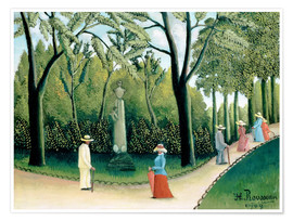 Premium poster  The Monument to Chopin in the Luxembourg Gardens - Henri Rousseau