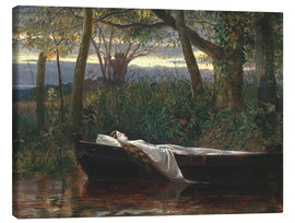 Canvas print  The Lady of Shalott - Walter Crane
