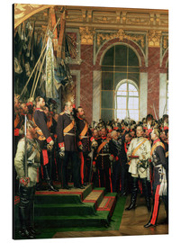 Aluminium print  The proclamation of the Emperor of the new German Reich - Anton Alexander von Werner