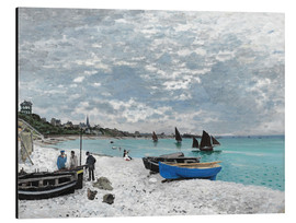 Aluminium print  The Beach at Sainte-Adresse - Claude Monet