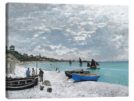 Canvas  The Beach at Sainte-Adresse - Claude Monet