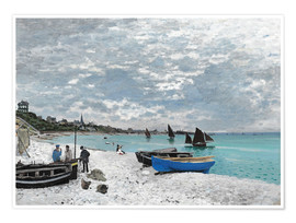 Premium poster The Beach at Sainte-Adresse