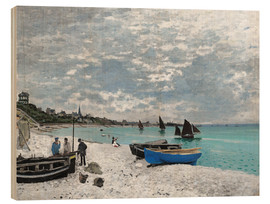Wood print  The Beach at Sainte-Adresse - Claude Monet