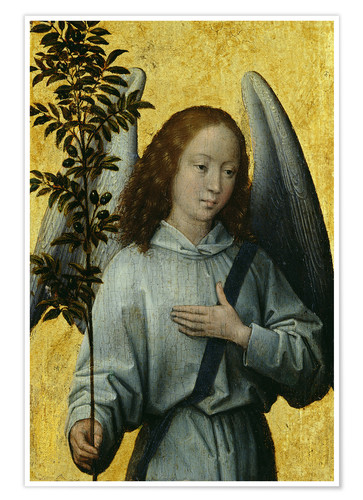 Premium poster Angel Holding an Olive Branch