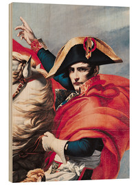 Wood print  Napoleon Crossing the Alps - Jacques-Louis David