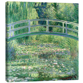 Canvas  White Waterlilies - Claude Monet