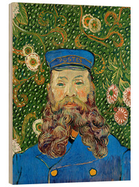 Wood print  Portrait of the Postman Joseph Roulin - Vincent van Gogh