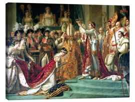 Canvas print  The Consecration of the Emperor Napoleon and the Coronation of the Empress Jose (detail) - Jacques-Louis David