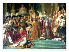 Premium poster  The Consecration of the Emperor Napoleon and the Coronation of the Empress Jose (detail) - Jacques-Louis David