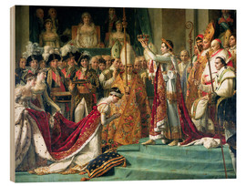Wood print  The Consecration of the Emperor Napoleon and the Coronation of the Empress Jose (detail) - Jacques-Louis David
