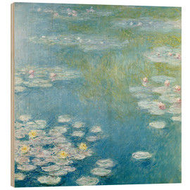 Wood print  Nympheas at Giverny - Claude Monet